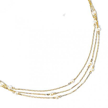 Collier or jaune 18 carats et perle d'eau douce, Finesse