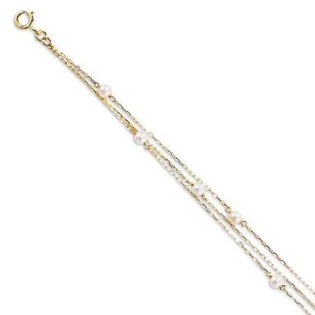 Bracelet en or 18 carats et perles de culture - Finesse