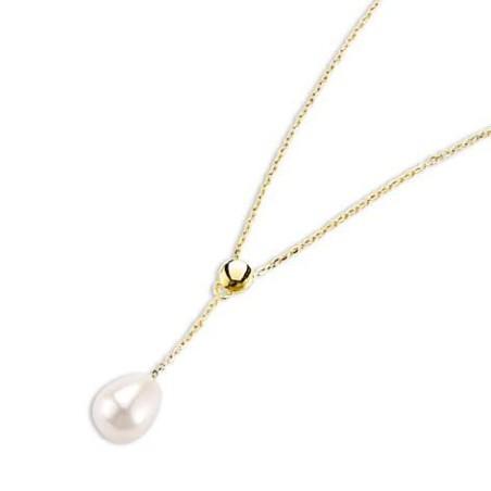 Collier en or 18 carats, perle de culture d'eau douce - Beauté