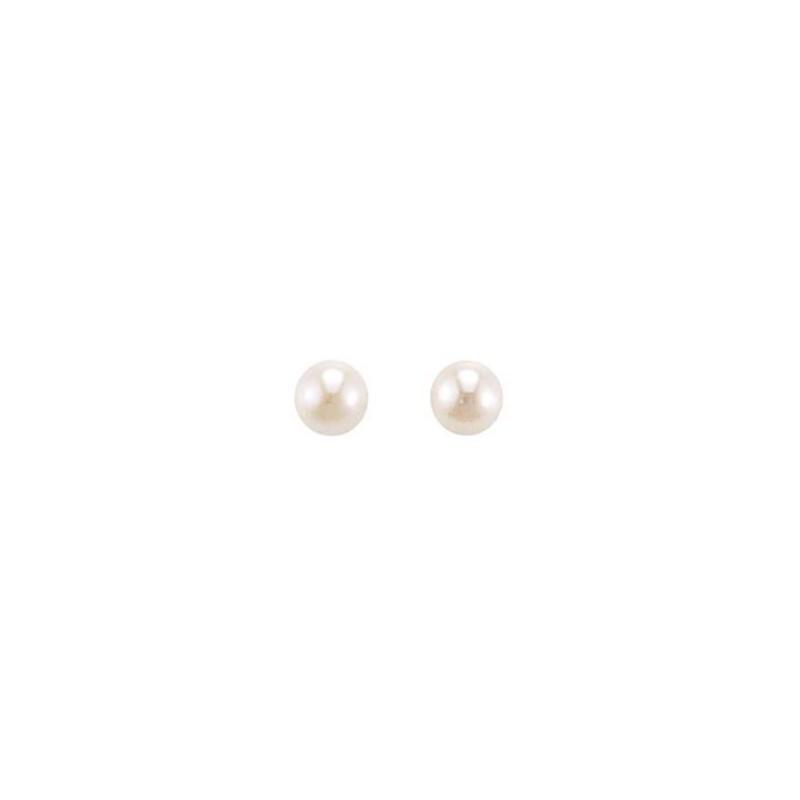 Boucles d'oreilles perle d'eau douce 6mm pour femme, Soft Pearl