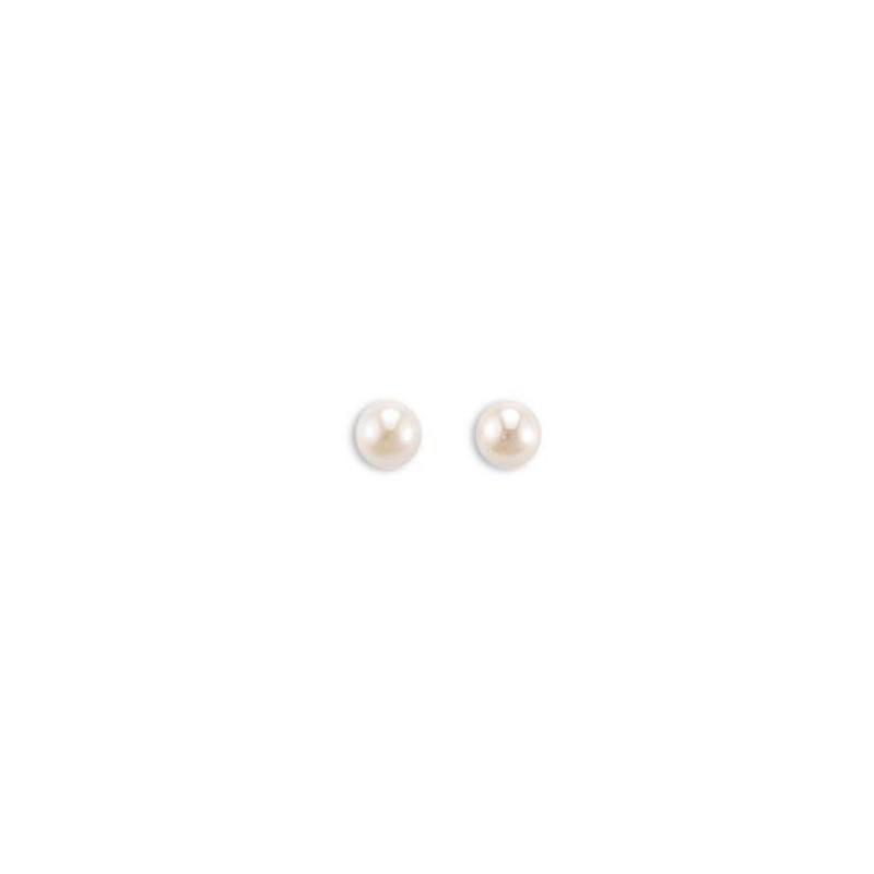 Boucles d'oreilles perle d'eau douce 5mm pour femme, Soft Pearl