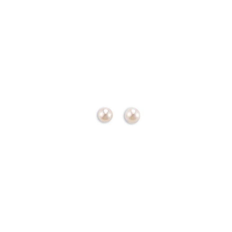 Boucles oreille perle d'eau douce 4mm, Soft Pearl