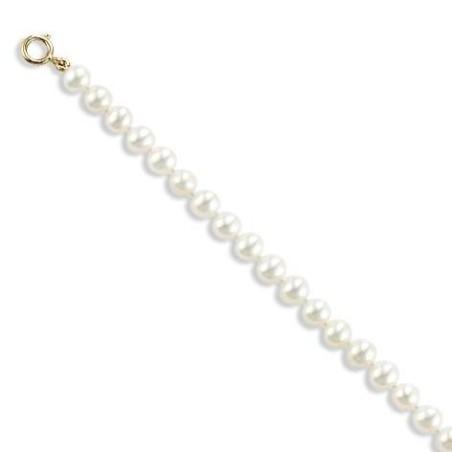 Gourmette or 18 carats et perles d'eau douce 5 mm, l'indémodable