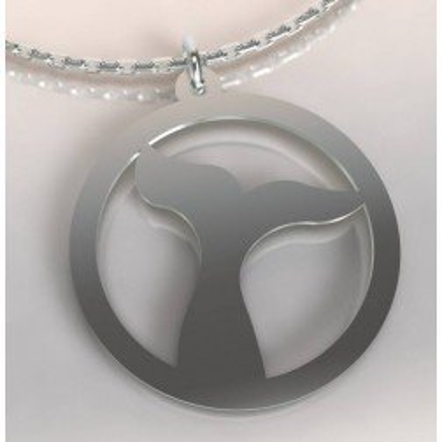 Collier de créateur en argent pour femme - Baleine - Lyn&Or Bijoux