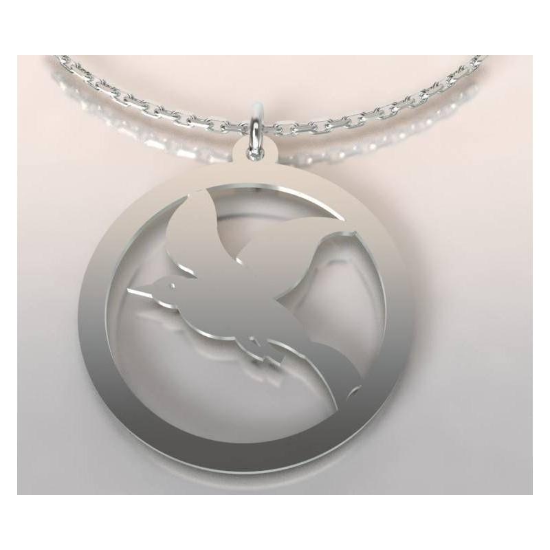 Collier oiseau en argent pour femme - Cayouckette - Lyn&Or Bijoux