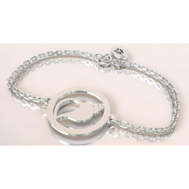 bracelet coquillage en argent massif pour femme