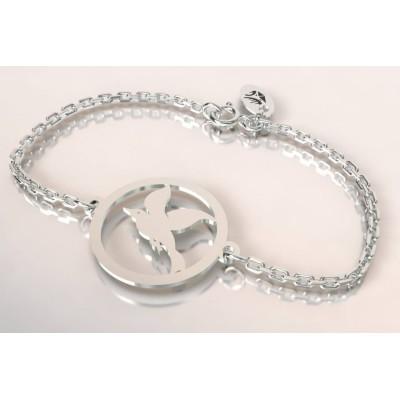 Bracelet de créateur en argent pour femme - Mouette - Lyn&Or Bijoux