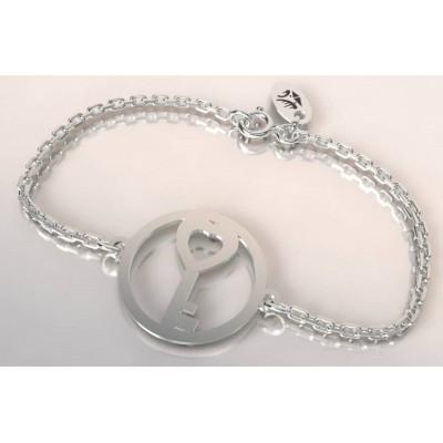 Bracelet créateur original Clef en argent 925 millièmes