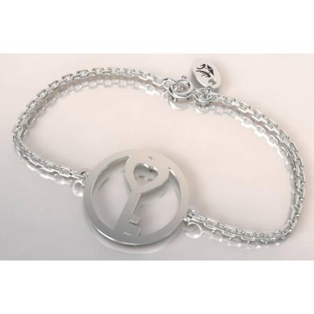 Bracelet créateur original mixte Clef argent