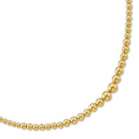 Collier, perles d'or jaune 18 carats, Gold Pearl