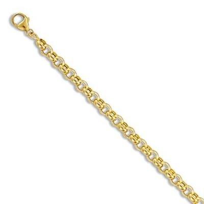 Bracelet Jaseron en or 18 carats 4 mm pour femme - New-Orléans - Lyn&Or Bijoux