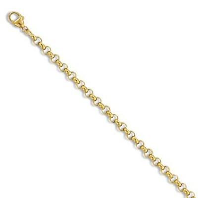 Bracelet Jaseron en or 18 carats 3 mm pour femme - New-Orléans - Lyn&Or Bijoux