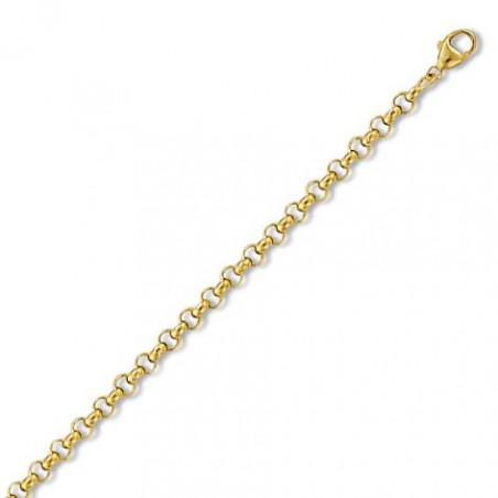 Gourmette or jaune 18 carats 6 mm pour femme, Nouvelle Orléans