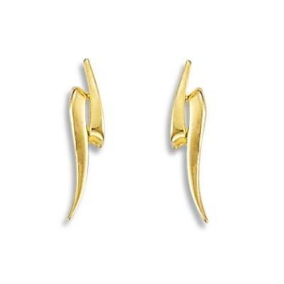 Boucles d'oreilles or jaune 18 carats pour femme, Envol