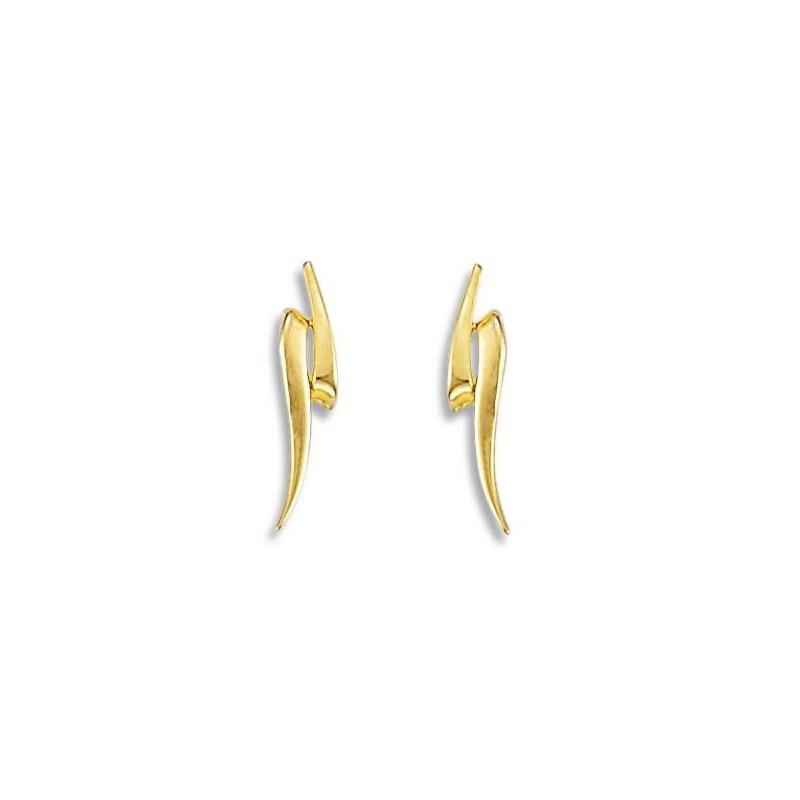 boucle d'oreille en or jaune 18 carats pas cher pour femme