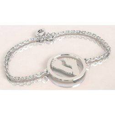 Bracelet de créateur en argent pour femme - Empreinte - Lyn&Or Bijoux