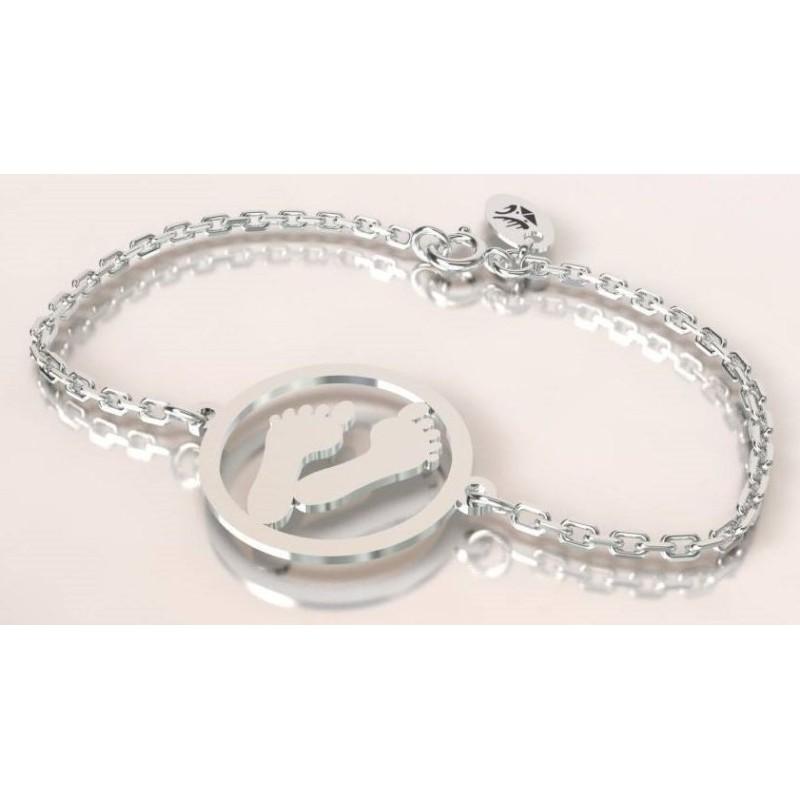 Bracelet créateur original Empreinte en argent 925