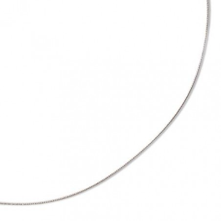 Collier câble en or blanc 18 carats - 0,8 mm