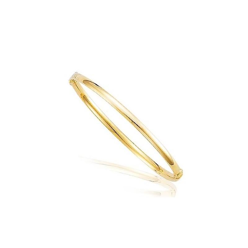 bracelet or femme, un bracelet jonc rigide en or massif pas cher!