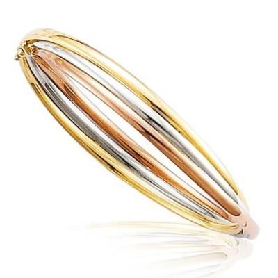 Bracelet Or trois tons 18 carats pour femme - Trois Splendeurs - Lyn&Or Bijoux