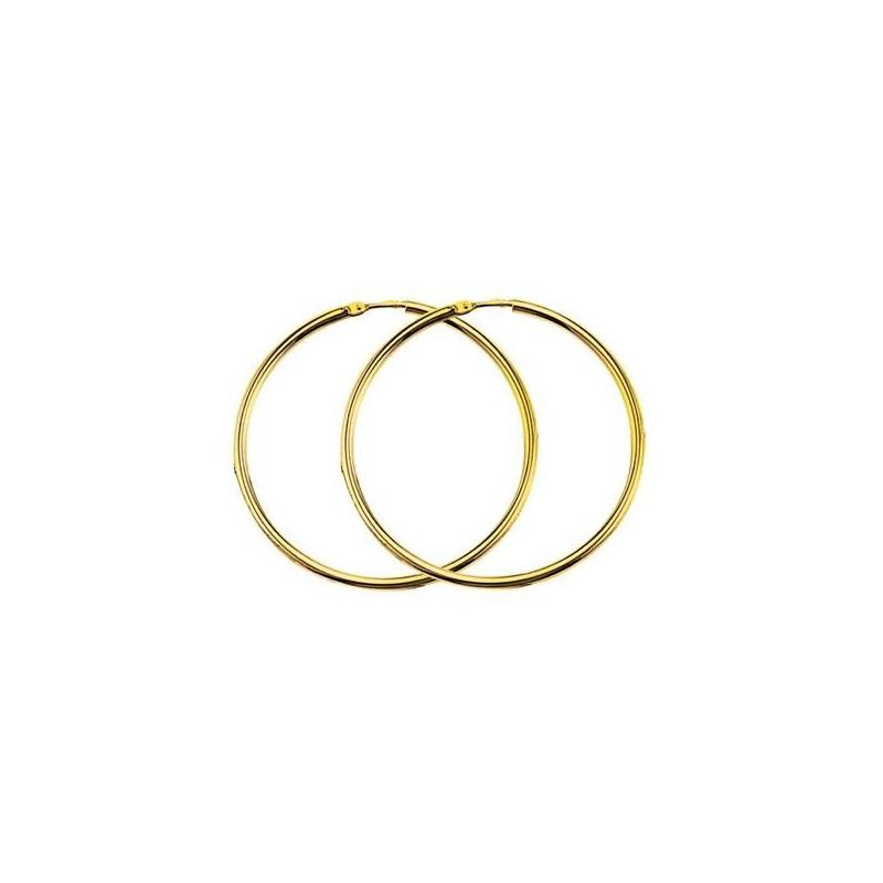 Créoles 50 mm en or 18 carats pour femme - Poésie - Lyn&Or Bijoux