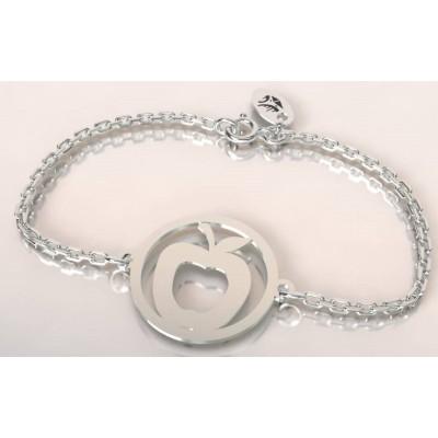 Bracelet créateur original Pomme en argent 925 millièmes