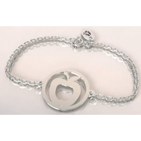 Bracelet créateur original mixte Pomme argent