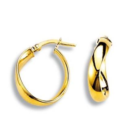 Boucles d'oreilles Créoles en or 18 carats - Symbole