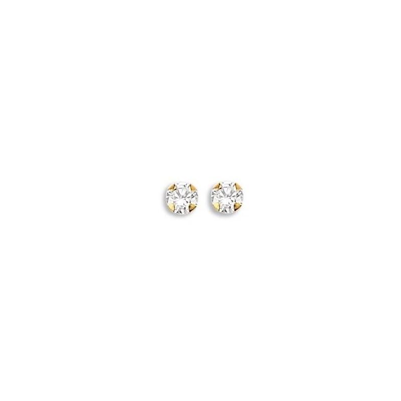 Boucles d'oreilles or jaune 18 carats pour femme, Andromède