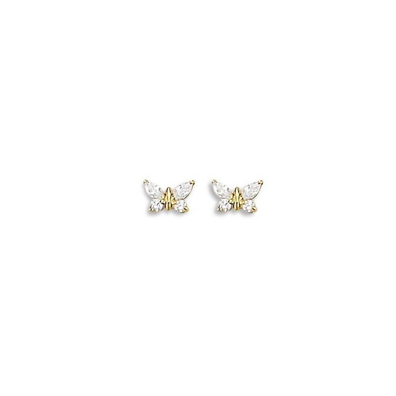boucle d'oreille enfant papillon