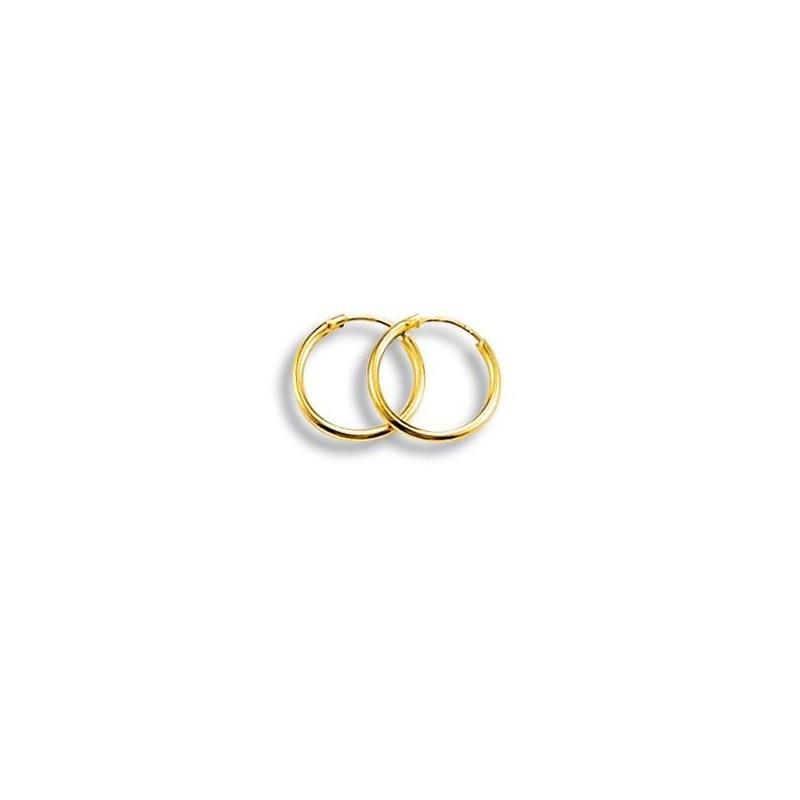 Créoles en or 18 carats, Femme & Fille, 12 mm - Poésie - Lyn&Or Bijoux