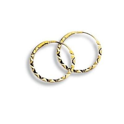 Boucles Créoles 12mm or jaune 18 carats pour femme pour femme, Epices