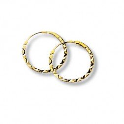 Créoles en or 18 carats, motif ciselé 12 mm - Epices - Lyn&Or Bijoux