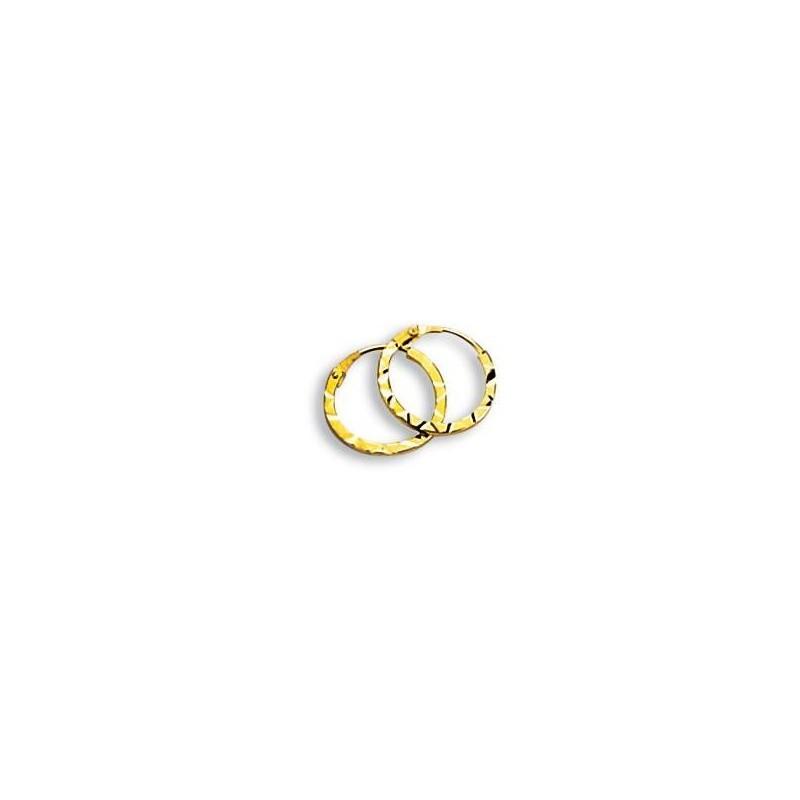 Boucles Créoles 10mm or jaune 18 carats pour femme, Epices