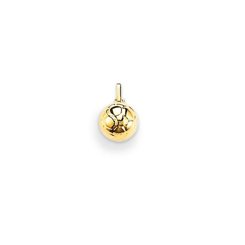 Pendentif ballon or jaune 18 carats, unisexe, Ballon de football