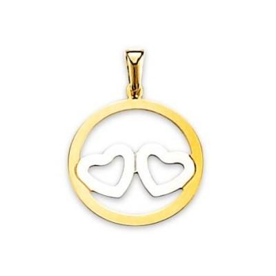 Pendentif coeur en or deux tons, femme - A notre Amour - Lyn&Or Bijoux