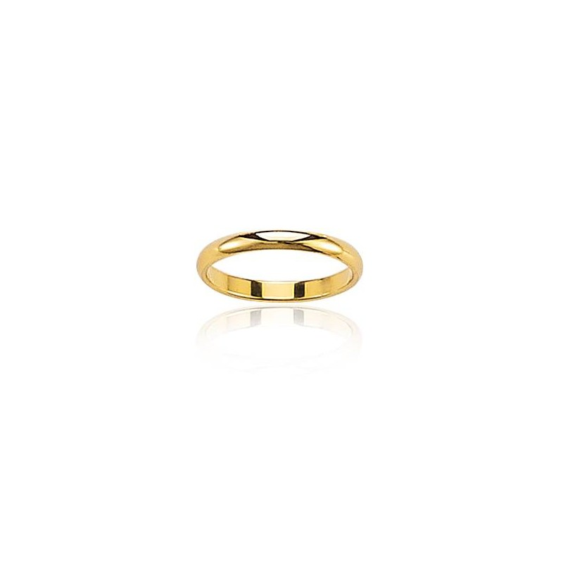 Alliance femme, anneau en or jaune 18 carats - Symbiose - Lyn&Or Bijoux