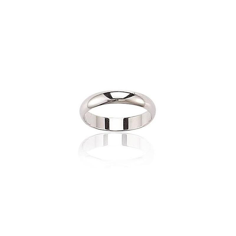 Alliance pour homme, anneau en or blanc 18 carats - Pour la Vie - Lyn&Or Bijoux