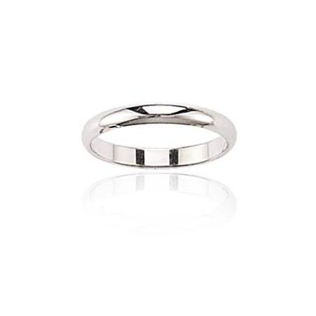 Alliance mariage femme or blanc 18 carats, la Vie