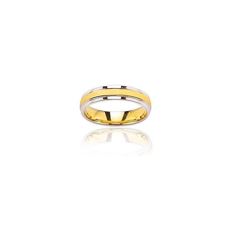 anneau en or pour femme - Alliance deux ors