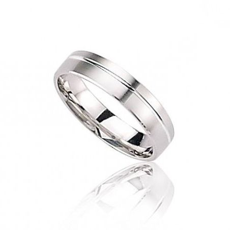 Alliance or blanc 18 carats pour homme, Force