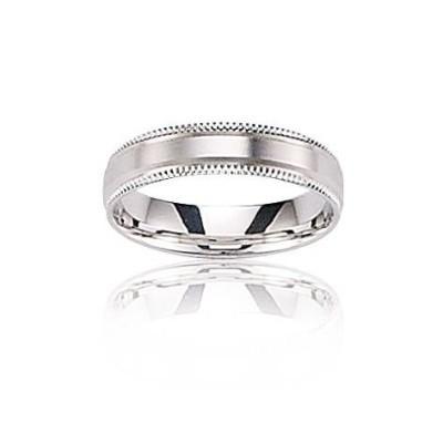 Alliance pour homme en or blanc 18 carats - Prestance - Lyn&Or Bijoux