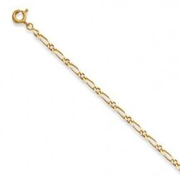 Bracelet Figaro 1/1 en or 18k, 3 mm - Millas