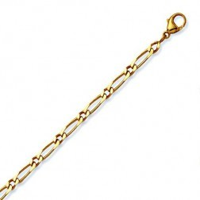 Bracelet en or 18 carats Maille Cheval 1/1 - Millas 4 mm