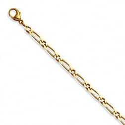 Gourmette or jaune 18 carats Maille Cheval 1/1, Millas 4 mm