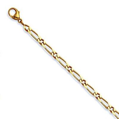Bracelet Figaro 1/1 en or 18k, 4 mm homme & femme- Millas - Lyn&Or Bijoux