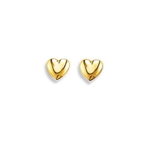 Boucles d'oreilles en or 18 carats pour fillette - mon petit coeur