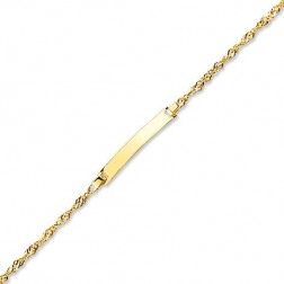 Bracelet gourmette bébé or jaune 18 carats - Maille Singapour