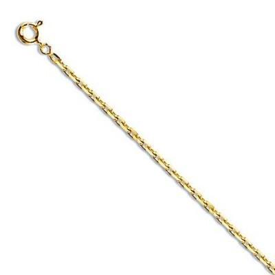 Chaîne en or 60 cm pour femme - Maille forçat limée 2,2 mm - Lyn&Or Bijoux