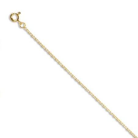 Chaîne or jaune 18 carats pour femme, Maille forçat limée 1,1mm